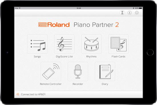 Roland FP-10 partner piano 2